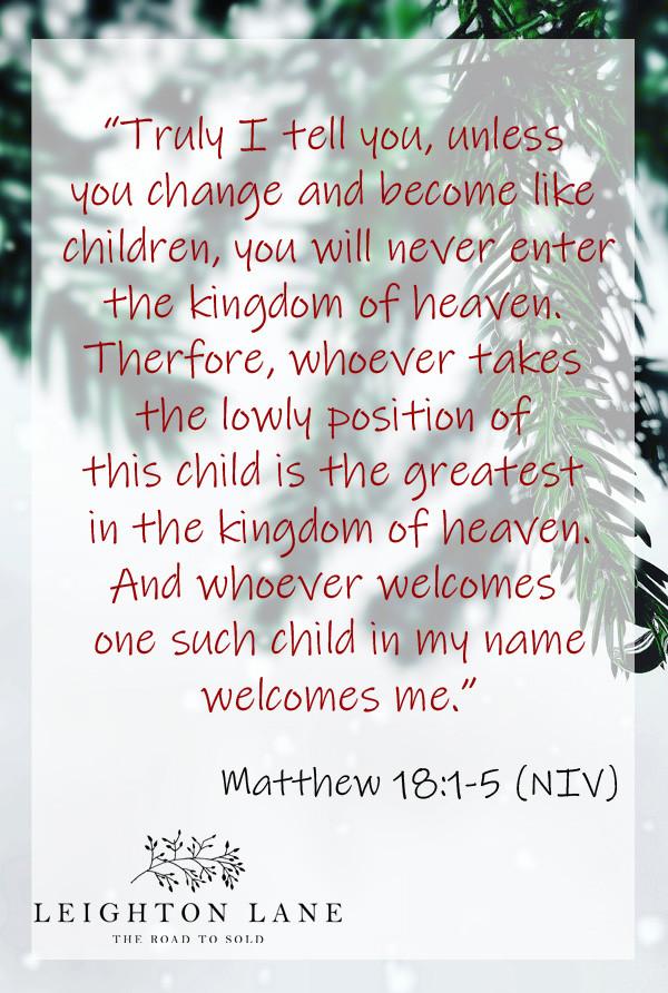 Matthew 18:1-5 Become Child-Like