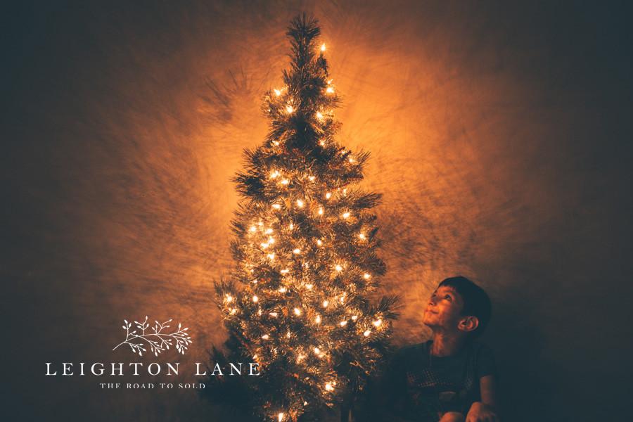 Christmas tree & Boy Child-like