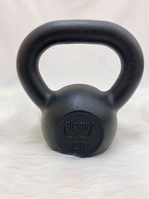 20lb. Cast Iron Kettlebell with Machined Flat Bottom