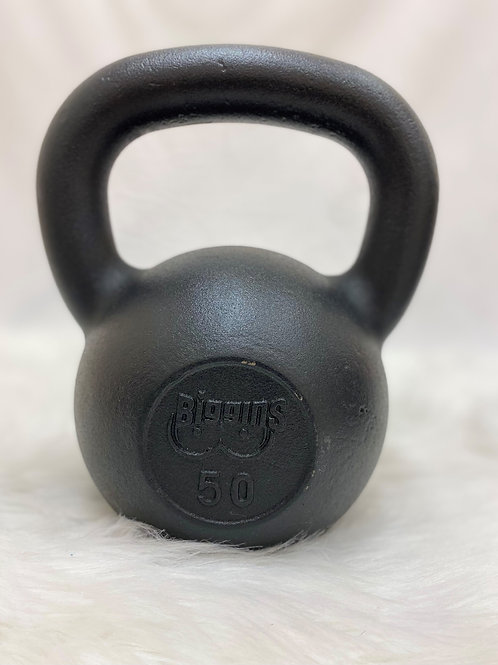 50lb. Cast Iron Kettlebell with Machined Flat Bottom