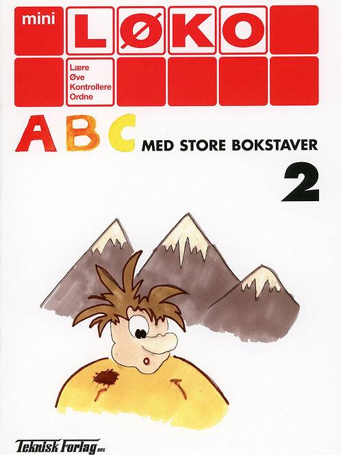 Abc med store bokstaver 2  (1 - 2 Trinn)