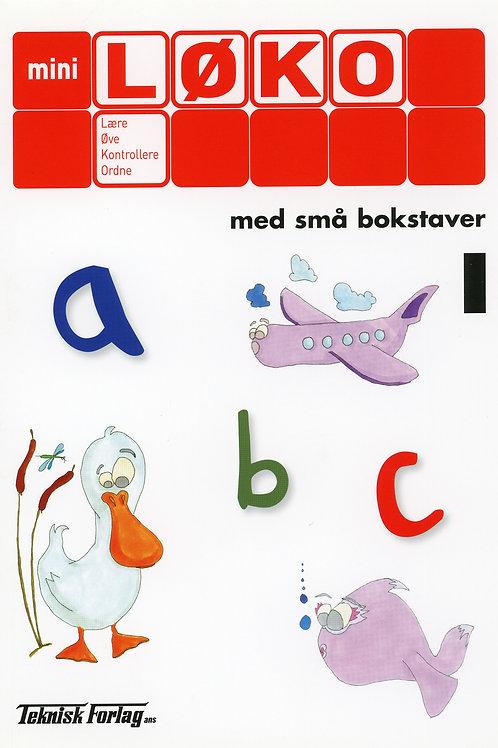 Abc med små bokstaver 1  (1 - 2 Trinn)