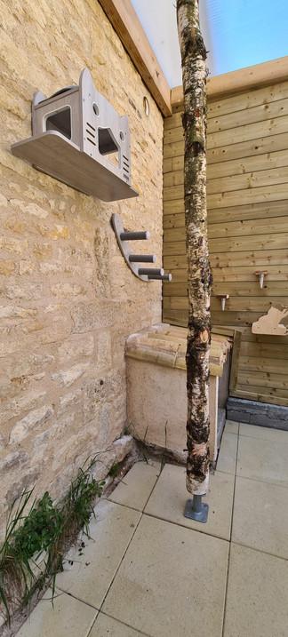 Espace extérieur 4 de Chez félins pour hôtes