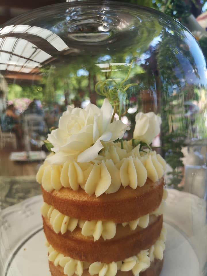 High tea layered sponge cake