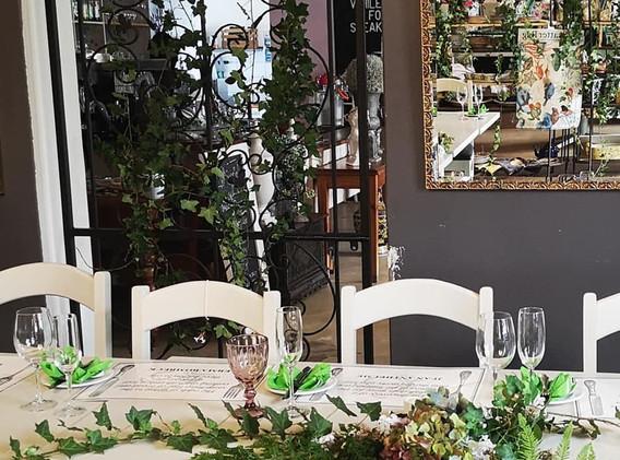 Bridal Shower forest table decor