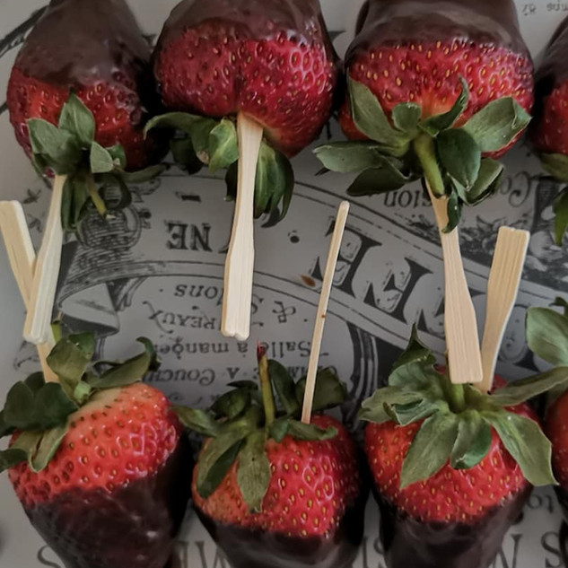 Choc dipped strawberry nibbles