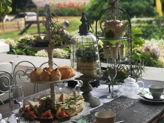 Botanical themed high tea