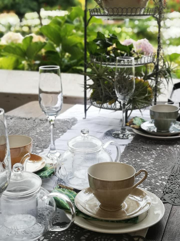Botanical HIgh Tea set up