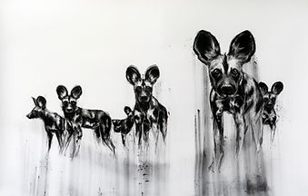 Wild dogs; 150cm x 300cm; Charcoal.jpg