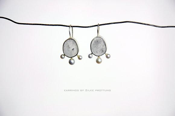 Drei Perlen Ohrringe