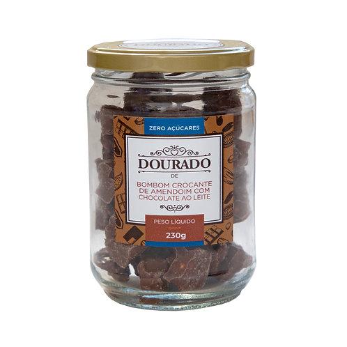 Bombom crocante de amendoim zero açúcares 230g