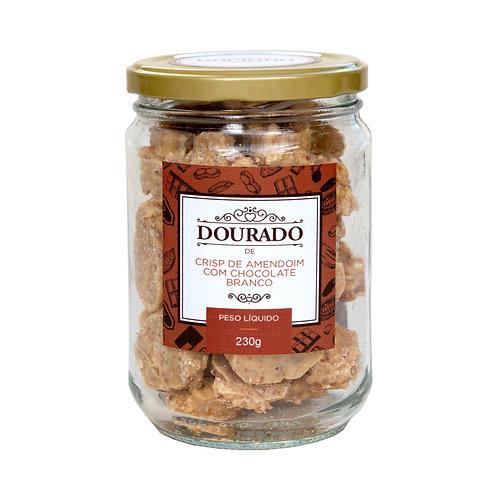 Crisp de amendoim com chocolate branco 230g