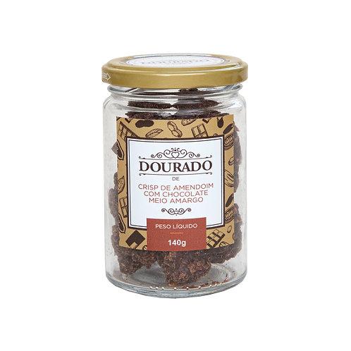 Crisp de amendoim com chocolate meio-amargo