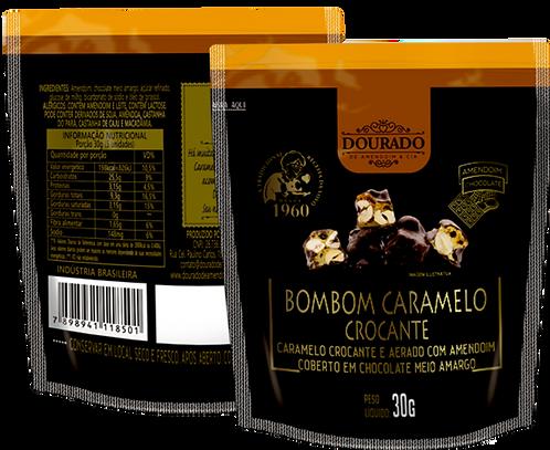 Bombom de amendoim com chocolate meio-amargo