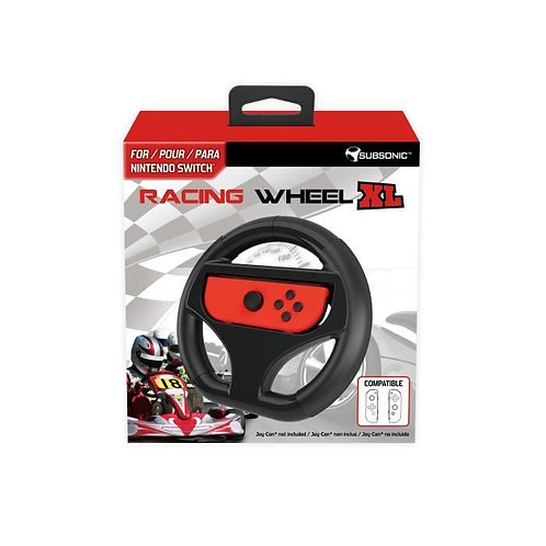 Volant Racing Wheel taille XL ultra confortable pour manettes Joy-Con