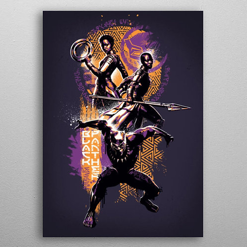 Poster en Métal Wakanda's Finest (Black Panther) By Displate