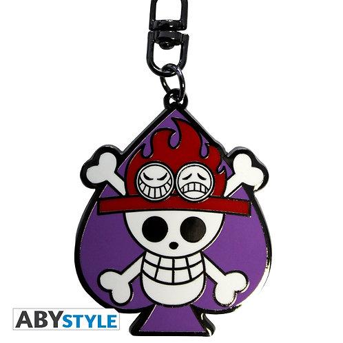 ONE PIECE Porte-clés Skull Ace