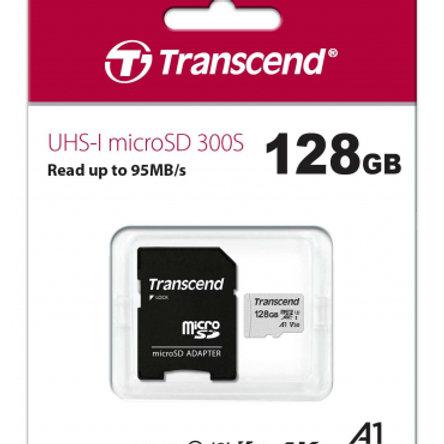 Carte MicroSDXC 128 Go Transcend 300S 4K