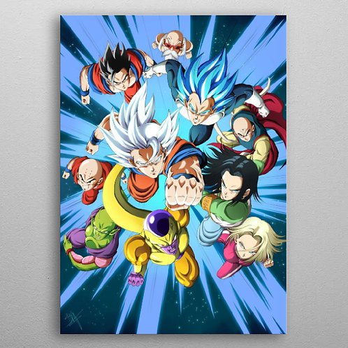 Poster en Métal Univers 7 rules ! (Dragon Ball Super) By Displate