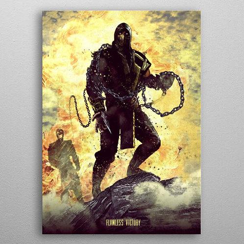 Poster en Métal Scorpion Mortal Kombat Flawless Victory By Displate
