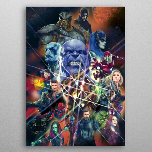 Poster en Métal Avengers Infinity Wars By Displate