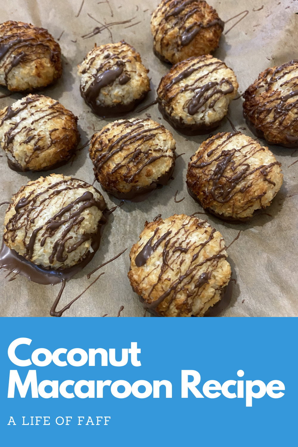 Coconut macaroon recipe Pin 1 for Pinterest