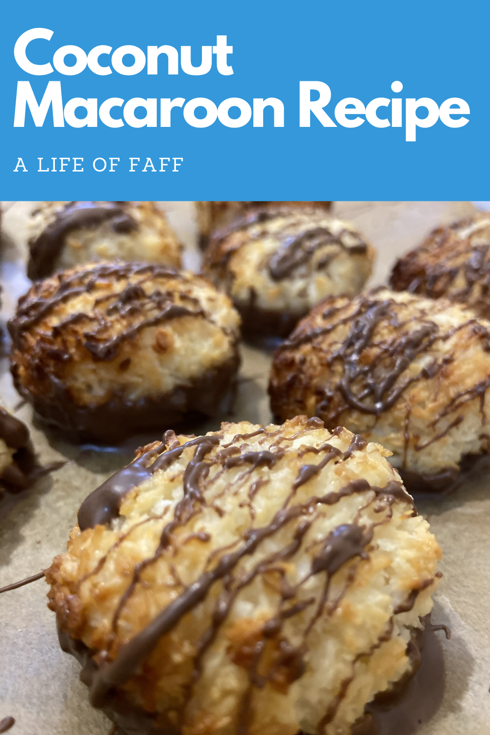 Coconut macaroon recipe Pin 2 for Pinterest