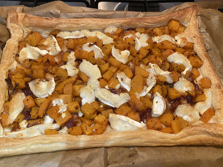 Roasted Butternut Squash & Goat's cheese Tart