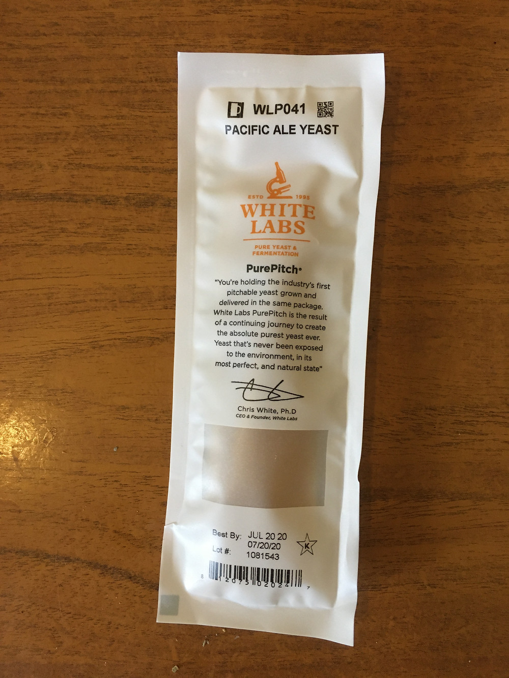White labs WLP041 yeast