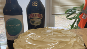 Your Fave Stout Chocolate Cake with Bailey Cream Cheese Icing