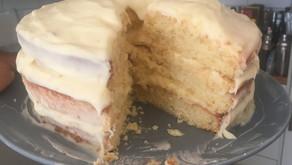 My Lemon Layer Cake with Lemon Cream Cheese Buttercream disaster!