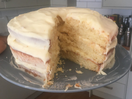 My Lemon Layer Cake with Lemon Cream Cheese Buttercream disaster!