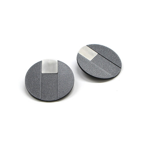 DUO earrings Square big pair