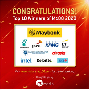 Congratulations Top 10 Wnners of M100 2020 - SinChew