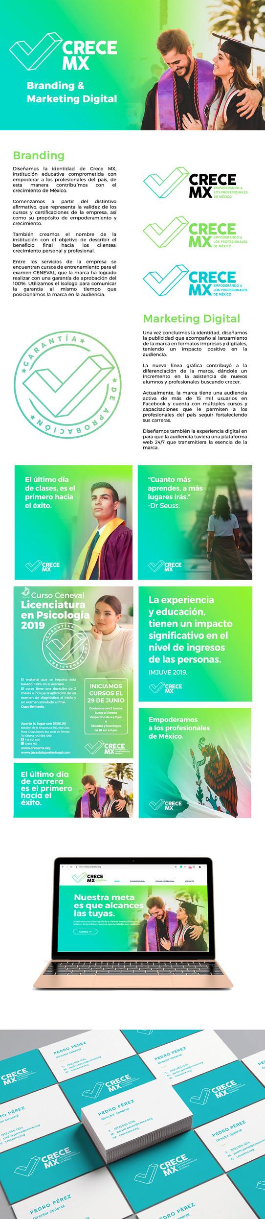 Instinto Creativo para Crece MX por Bestial Design