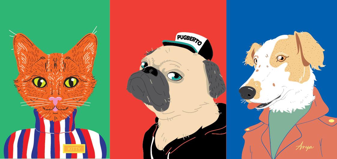 Retrato Ilustrado de tu Mascota