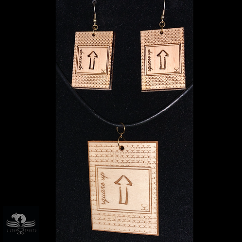 Square Up - Hand Made Earrings