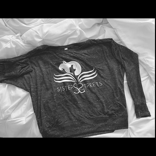 SOTS Grey Flowy Bella Long-Sleeve Shirt