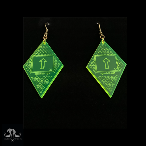 Square Up - Diamond Shaped Earrings