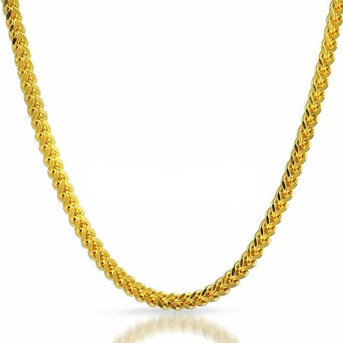 NEW HIGH POLISHED FRANCO 4MM CHAIN GOLD