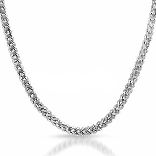 NEW HIGH POLISHED FRANCO 4MM CHAIN PLATINUM
