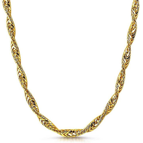 TWISTED FOXTAIL CHAIN 8MM GOLD
