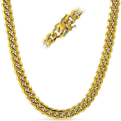 PREMIUM MIAMI CUBAN 8MM CHAIN IP GOLD