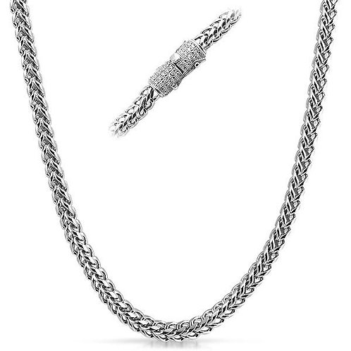 ICED OUT CLASP LUXURY 6MM FRANCO CHAIN PLATINUM