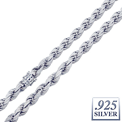 ICED OUT ROPE CHAIN 11MM PLATINUM