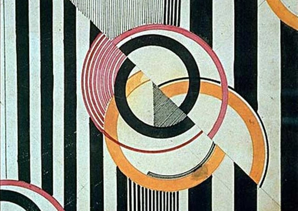 Moscow 1924 Textile design by painter Liubov Popova