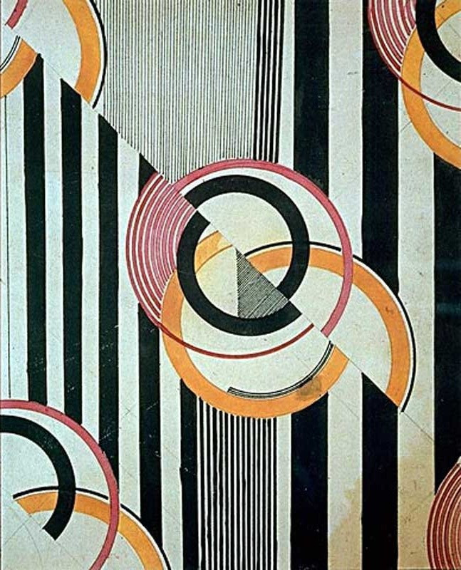 Moscow 1924 Textile design by painter Liubov Popova