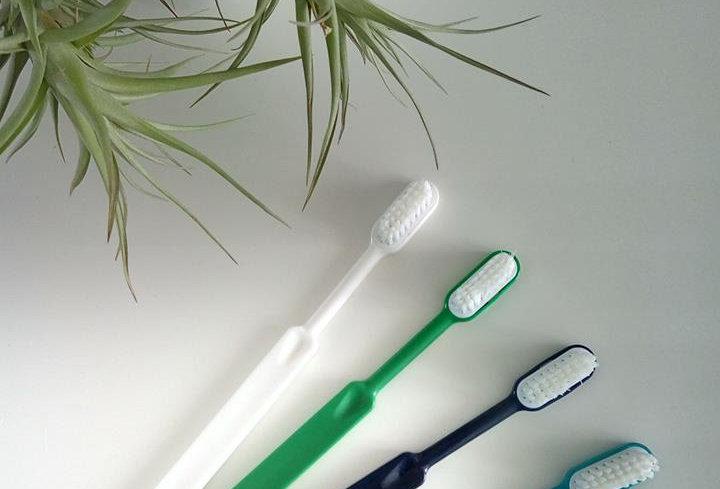 Brosse à dent adulte durable à tête interchangeable (souple) fabriquée en France