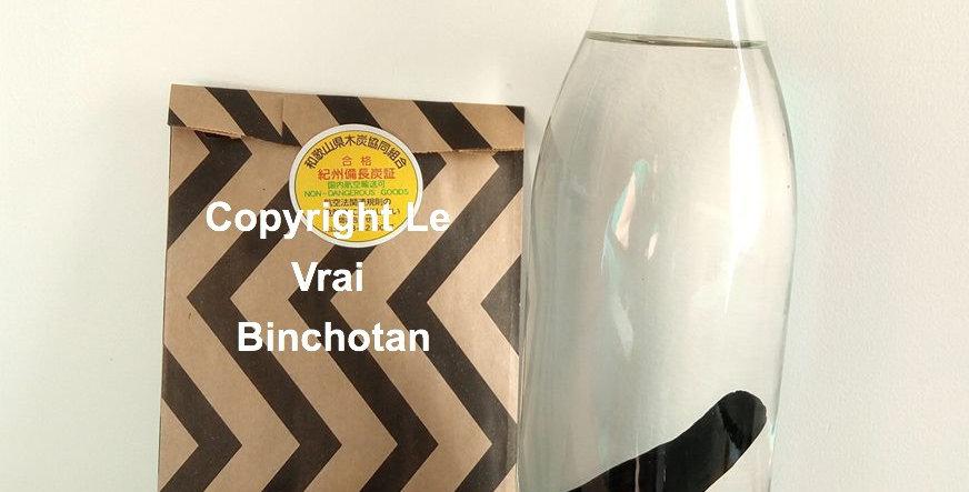 Véritable Binchotan Japonais, bâton de 30 grammes (taille L) pour carafes d'1L