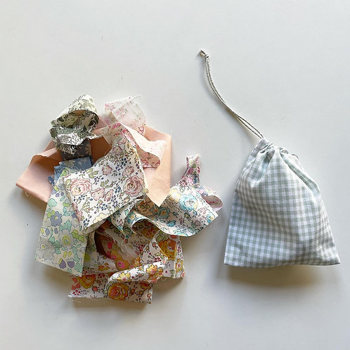 ミニ巾着×ハギレセット S